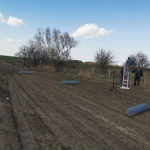 Gard din plasa impletita pentru imprejmuire gradina